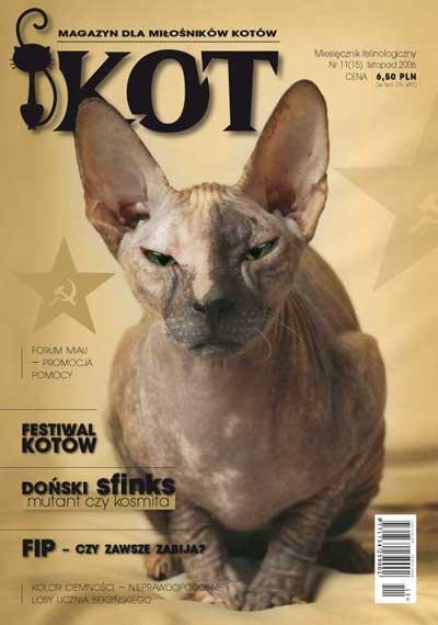 KOT 11 - listopad 2006  magazyn dla miłośników kotów